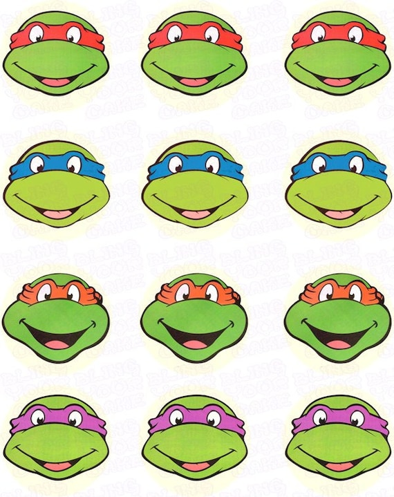 Items similar to teenage mutant ninja turtles tmnt inspired fun faces