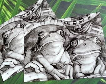 "Postcards ""Giant Tree Frogs"" by Angel Hawari"
