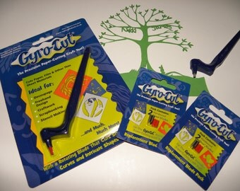 GYRO-CUT **Special Offer** Craft Tool + 2 packs of blades. Limited time offer!! Over 12% saving :-)