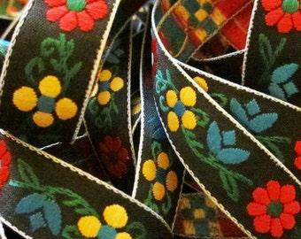 "432 Scandinavian ribbon, Scandinavian trim jacquard trim ""Leiden"" 1/2"" (12mm)"