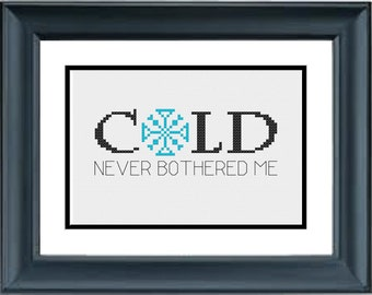 Cold Never Bothered Me Anyway - Snowflake - Frozen - Disney - PDF Cross-Stitch Pattern