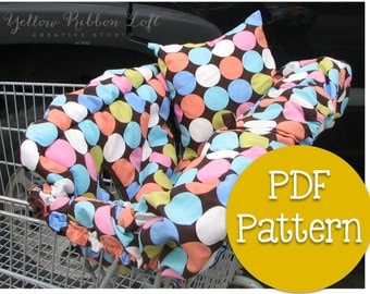 Shopping Cart Cover + Pillow + Tote Bag Sewing Pattern PDF Digital Download eBook