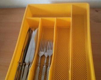 Vintage Soviet Tableware Cutlery Tray Organizer