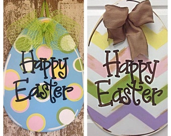 Easter Door Hanger, Easter Wreath, Easter Egg