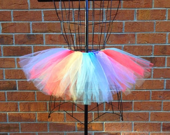 Mel Tutu - Blocked Tulle Style Tutu - Multi-colored - Available in Infant, Toddlers, Girls, Teenager and Adult Sizes