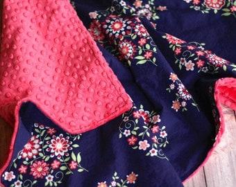 Baby Blanket - Memento in Midnight - Amy Butler's Love Collection - Baby Shower Gift - Baby Girl Blanket - Baby Girl - Newborn Gift