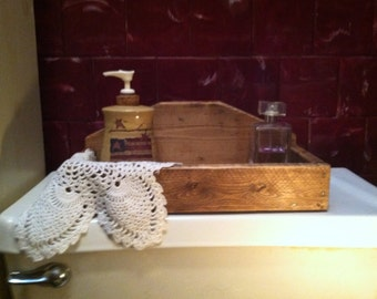 Primitive wooden  box ( toilet wooden box)