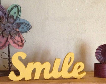 "Wooden ""Smile"" Sign"