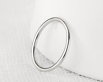 Meridian - handmade sterling silver ring - thin ring - minimal jewellery - stacking ring - stackable ring