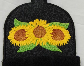 Sunflower Kitchen Towel Topper