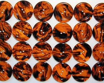 Two dozen vintage new old stock Italian faux tortoise shell buttons