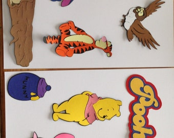 Cricut Die Cut, Winnie the Pooh Scene with Title