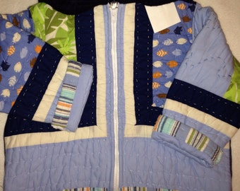 L5   Boys size 6 quilted jacket