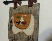 Wooden Sheep banner, is handpainted