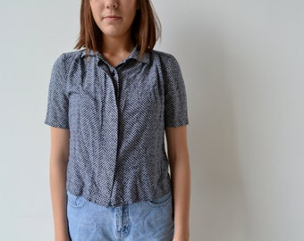 SALE: 1990s Patterned Blouse