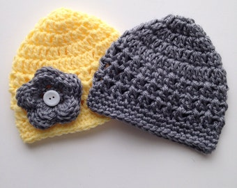 Crochet Baby Hat Patterns 6 Months : Baby Girl Hat Crochet Pattern NEWBORN 6 MONTHS Sizes