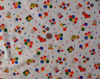 Unavailable listing on etsy for Bright childrens fabric