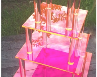 NEW Fluorescent Acrylic Cupcake/Cake Stand