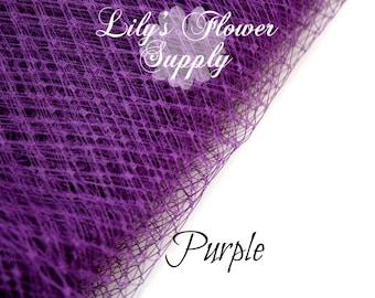 Russian Veil - Birdcage Veil Netting - Purple - Veil 1 YARD - French Nettin - DIY Fascinators - Russian Veil - Wedding Veils