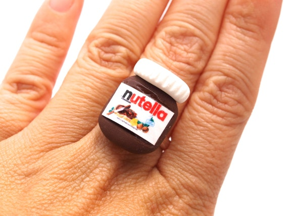 Bague pot de nutella pots de nutella miniatures en p te - Lampe pot de nutella ...