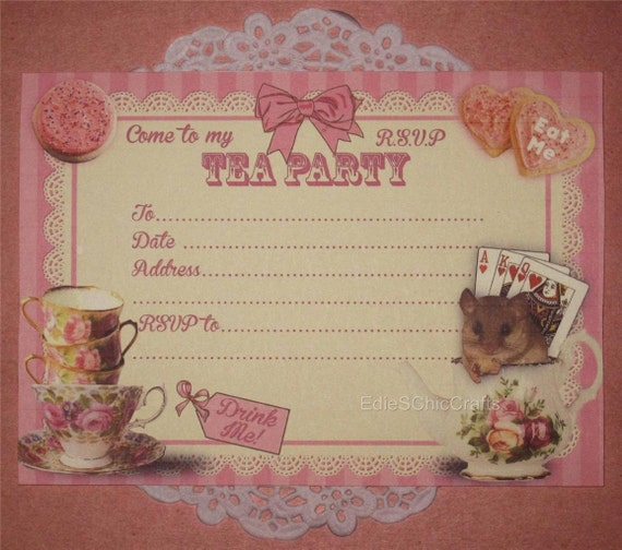 Items Similar To Alice In Wonderland Mad Hatter TEA PARTY