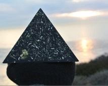Black Sun Orgonite Pyramid with enhanced UEO Matrix
