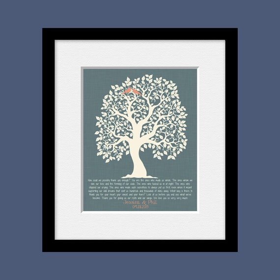 Wedding Gift Thank You Poem : Thank You Gift Print for Parents Parents Thank You