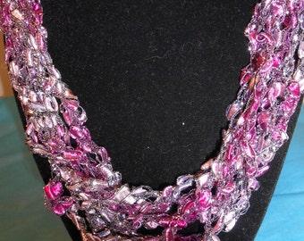 Trellis Necklace / Crochet Necklace Item No. 122a