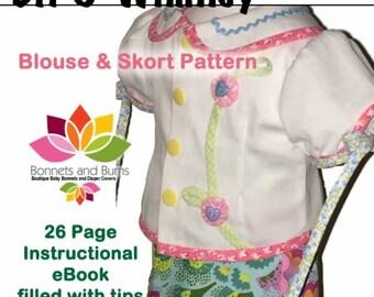"Bit O' Whimsy Shirt and Skort for 18"" Dolls"