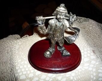 Pewter Hobo Clown Figurine