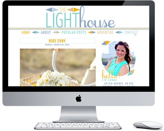 The Light House Blogger Blog Template ***Includes Installation***