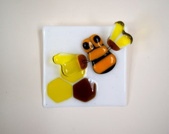 Fused glass Honey Bee decoration