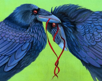 3 RAVEN Let's Tie one on CARDS - pack of three