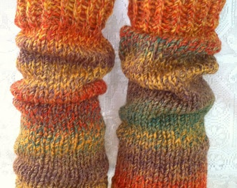 Autumn Marble Leg Warmers