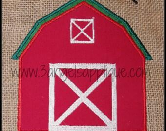 Barn  applique design 3 sizes INSTANT DOWNLOAD