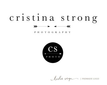 Premade Photography Logo - Arrow Logo + Matching Watermark