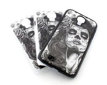 S-85 Galaxy S4 Samsung Case Cover Sucre Cranio Donna - Girl Day Of The Dead