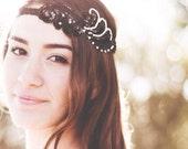 Lauren Black, Art deco Headband, Women's Accessories, Vintage, Roaring 20's Headband, Hair Accessories, Greek Goddess