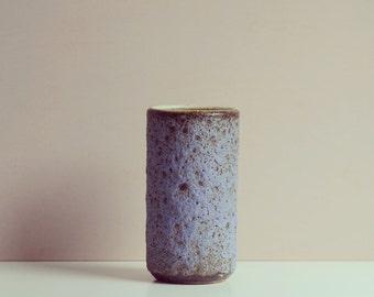 Vintage lava vase purple