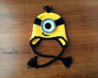One Eyed Minion Inspired Beanie/Made to Order/Any size