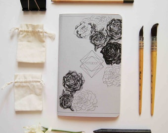 notebook moleskine flowers