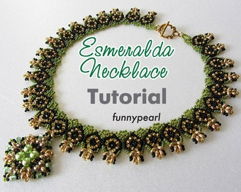 Necklace Esmeralda. Tutorial. PDF