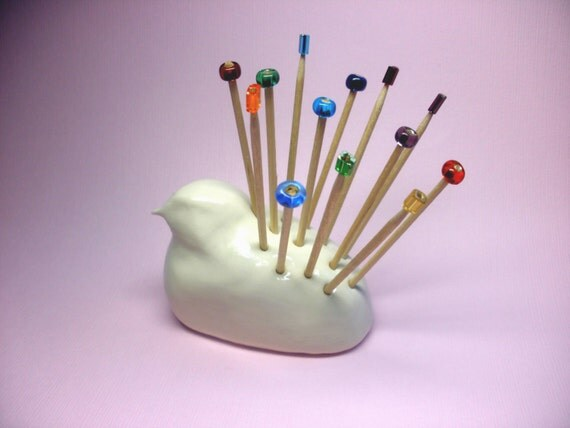 Toothpick holder bird toothpick holder white bird figurine - Toothpick dispenser bird ...