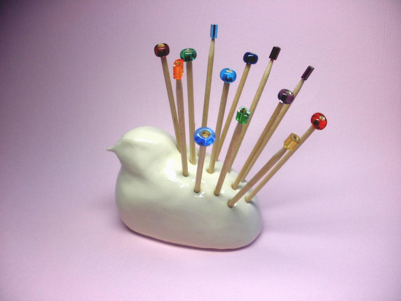 Toothpick holder bird toothpick holder white bird figurine - Bird toothpick holder ...