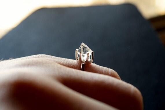 Raw Diamond Engagement Ring Rough Diamond Jewelry Natural
