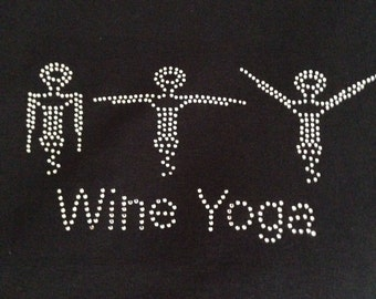 Wine yoga t shirt