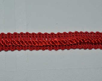 Red Braid Trim sold by the Lot of 4 yards