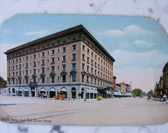1914 South Bend Indiana IN Oliver Hotel - Antique Postcard