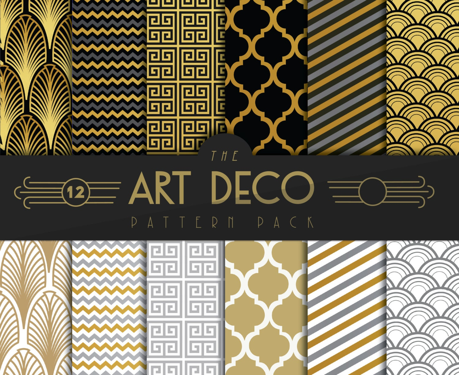 Art deco gatsby pattern for Art deco patterns
