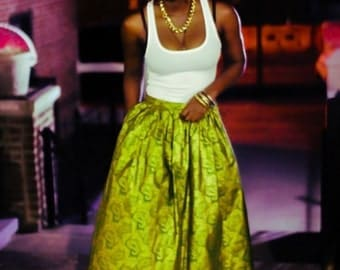 Green and Gold Maxi skirt (Adult)